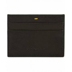 Canali Leather Credit Card Case Black