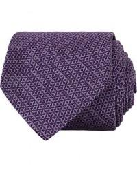 Canali Silk Micro Pattern 8 cm Tie Light Purple men One size Lilla
