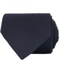 Canali Silk Tonal Texture 8 cm Tie Navy men One size Blå