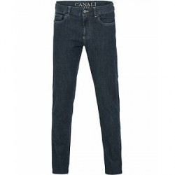 Canali Slim Fit Jeans Dark Blue