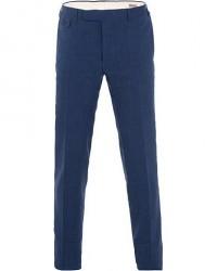 Canali Wool/Linen Trousers Dark Blue