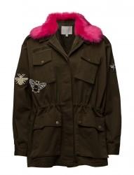 Canvas Army Jacket W. Fur Collar &