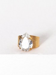 Caroline Svedbom Classic drop ring Ring Crystal