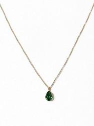 Caroline Svedbom Mini Drop Necklace Halskæde Moss