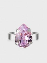 Caroline Svedbom Mini Drop Ring Rhodium Ringe