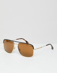Carrera aviator sunglasses in gold & tort - Gold