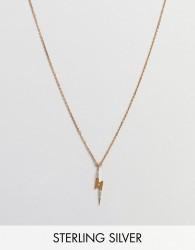 Carrie Elizabeth Diamond Lighting Bolt Pendant - Gold
