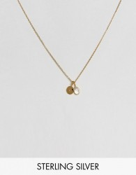 Carrie Elizabeth Initial C Cluster Necklace - Gold