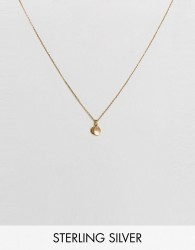 Carrie Elizabeth Initial M Cluster Necklace - Gold