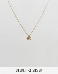 Carrie Elizabeth Initial S Cluster Necklace - Gold