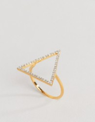 Carrie Elizabeth Statement Diamond Triangle Ring - Gold