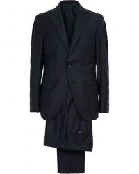 Caruso Aida Classic Super 130's Wool Suit Navy men 46