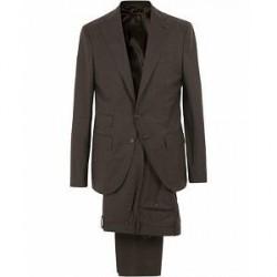 Caruso Aida Flannel Suit Dark Brown