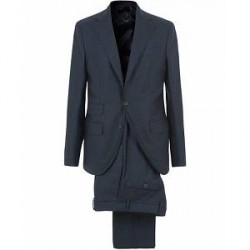 Caruso Aida Flannel Suit Navy