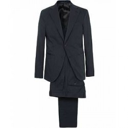 Caruso Cotton Stretch Suit Navy