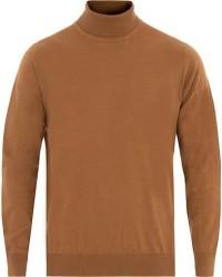 Caruso Cotton/Cashmere Turtleneck Sweater Camel men 52