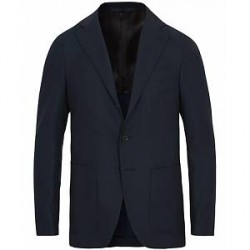 Caruso Structure Wool Blazer Navy
