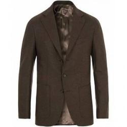 Caruso Structured Wool Blazer Dark Brown
