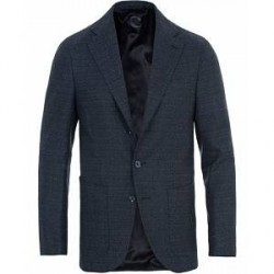 Caruso Structured Wool Blazer Navy