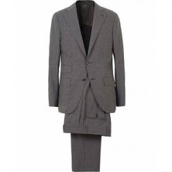 Caruso Wool Micro Dogtooth Suit Grey
