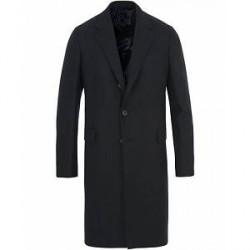 Caruso Wool/Cashmere Herringbone Coat Dark Navy