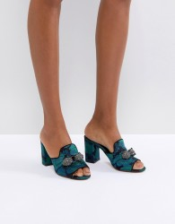 Carvela Brocade Mule with Jewels - Multi