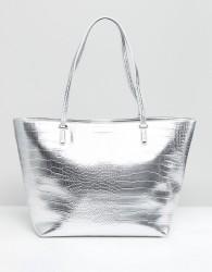Carvela Croc Tote Bag - Silver