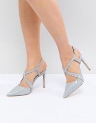 Carvela Fierce Point Cross Strap Point High Heels - Grey