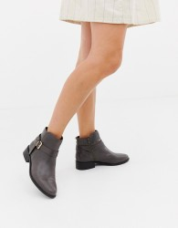Carvela Leather Low Heel Ankle Boots - Black