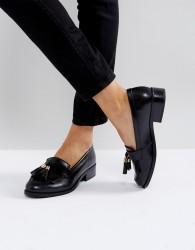 Carvela Leather Tassel Loafer - Black