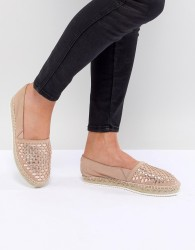 Carvela Mast Leather Espadrilles - Beige
