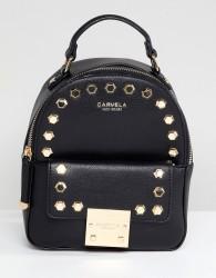Carvela Mini Backpack With Gems - Black