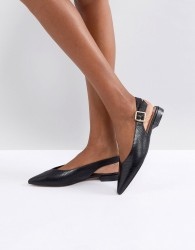 Carvela Point Flat Slingback Shoe - Black