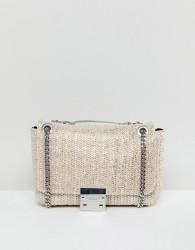 Carvela Raffia Tote Bag - Silver