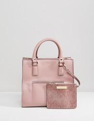 Carvela Simba Pocket Purse Tote Bag - Pink