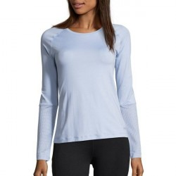 Casall Mesh Insert Long Sleeve - Lightblue * Kampagne *