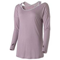 Casall Wrap Long Sleeve - Light lilac - 40 * Kampagne *