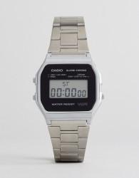 Casio A158WEA-1EF Digital Bracelet Watch In Silver - Silver