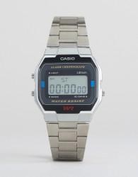 Casio A163WA-1QES Digital Bracelet Watch In Silver - Silver