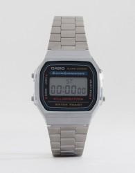 Casio A168WA-1YES Digital Bracelet Watch - Silver