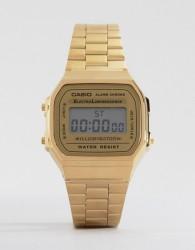 Casio A168WG-9EF Gold Plated Digital Watch - Gold