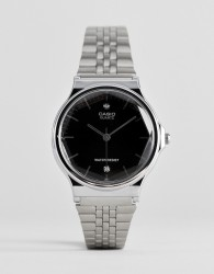 Casio Analogue diamond watch in silver - Silver