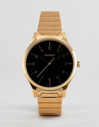 Casio Analogue vintage watch in gold - Gold