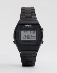 Casio B640WB-1AEF digital stainless steel watch in black - Black