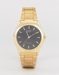 Casio Gold Stainless Steel Strap Watch MTP1130N-1A - Gold