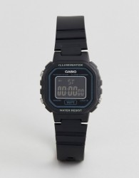 Casio LA20WH-1B digital watch in black - Black
