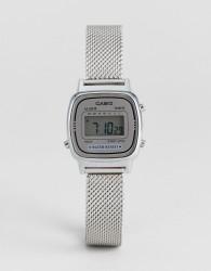 Casio LA670 Digital Mesh Watch In Silver - Silver