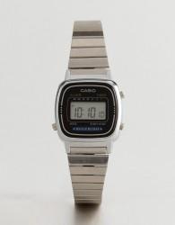 Casio LA670WEA-1EF Digital Bracelet Watch In Silver - Silver