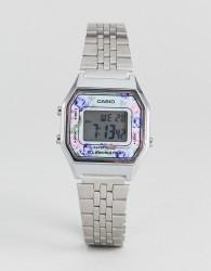 Casio LA680WEA-2CEF Floral Digital Bracelet Watch In Silver - Silver