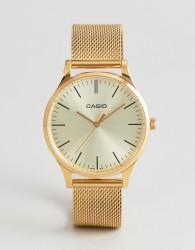 Casio LTP-E140G-9AEF Mesh Watch In Gold - Gold